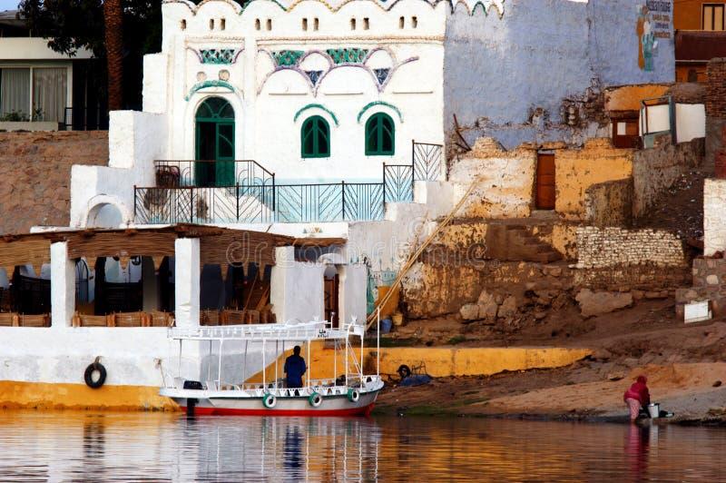 aswan cityscape royaltyfri bild