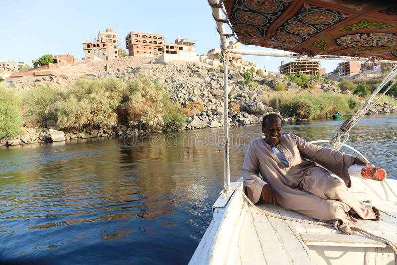 Aswan Egitto immagine stock