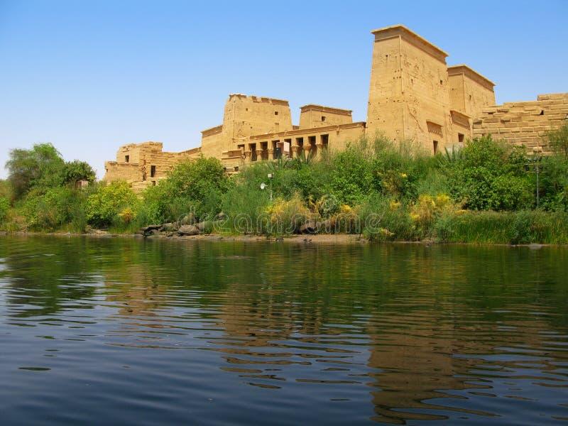 Aswan, Egitto: Tempiale di ISIS all'isola di Philae fotografie stock
