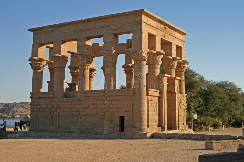 Aswan (Egitto) - tempiale di Philae fotografia stock
