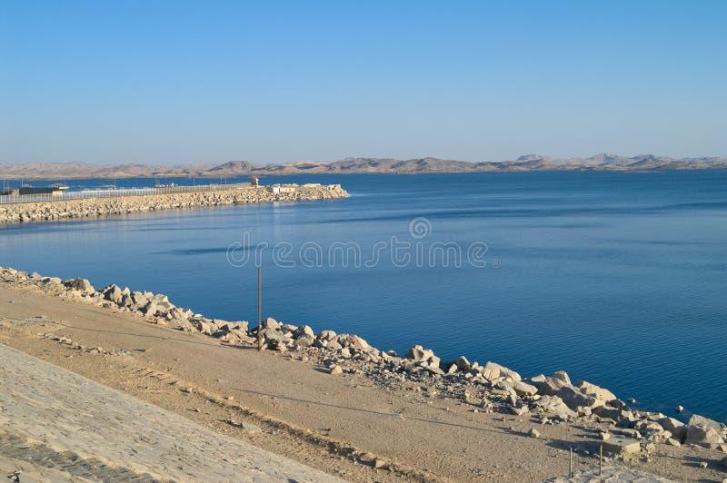 aswan egypt lake nasser arkivbild