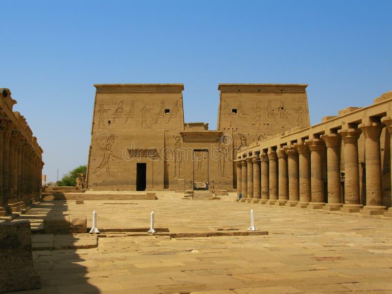 Aswan, Egypte : Temple d'ISIS à l'île de Philae photo libre de droits