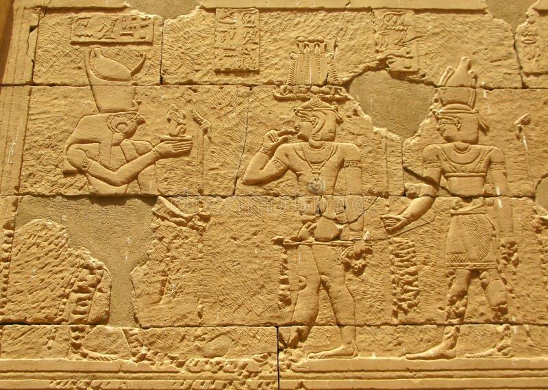 Aswan, Egypte : Temple de Kalabsha dans le lac Nasser photos libres de droits