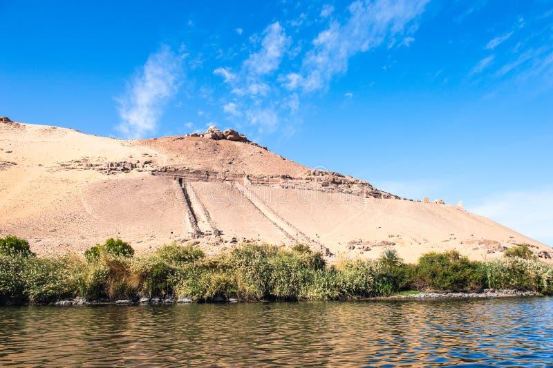 Aswan Egypten arkivbilder