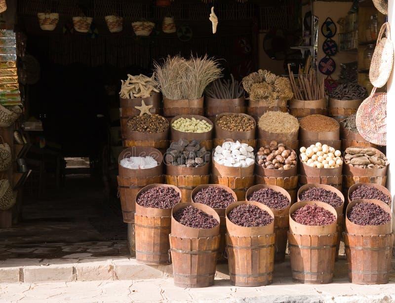 Aswan marknad arkivbild