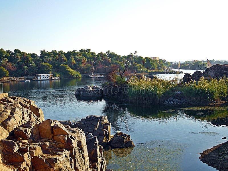 Aswan Nil zdjęcia stock