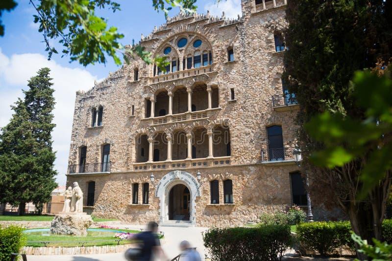 Asylum of Santo Cristo in Pla de San Agustin de Igualada. Spain royalty free stock photos