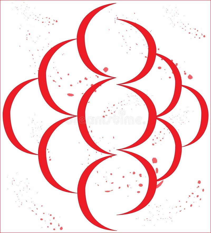 Asymétrique, axial, rouge, éclaboussure photos libres de droits