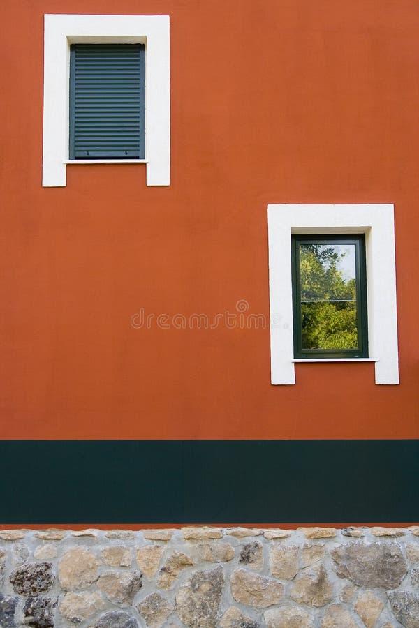 Asymmetric windows stock images