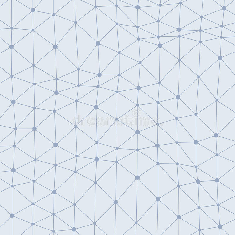 Asymmetrical connected dots background royalty free illustration