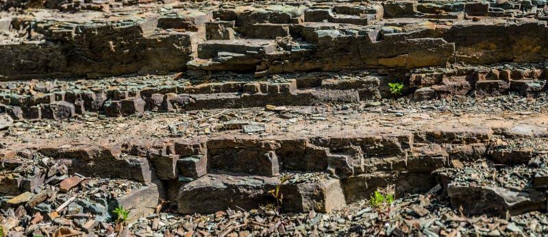 Asymmetrical kamieni kroki Szeroka tekstura obraz royalty free