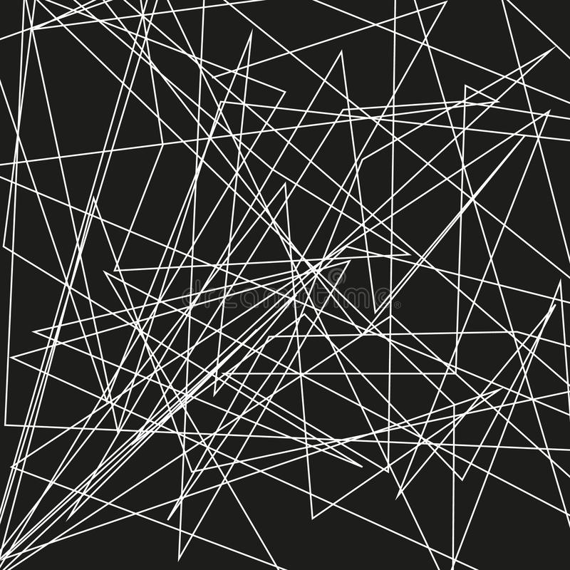 Asymmetrical texture with random chaotic lines, abstract geometric pattern. Abstract web, a tangled mesh. Vector illustration. Asymmetrical texture with random vector illustration