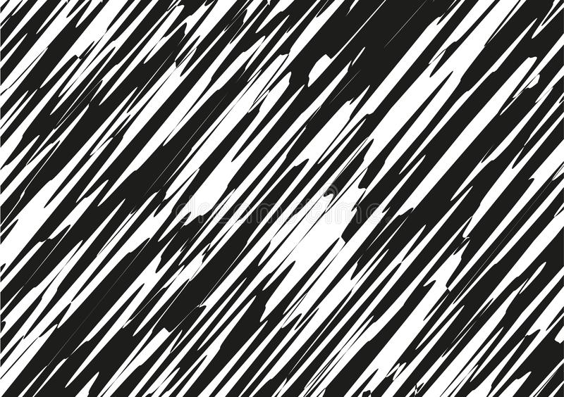 Asymmetrical texture with random chaotic lines, abstract geometric pattern. Black and white vector Grunge urban style. Asymmetrical texture with random chaotic royalty free illustration