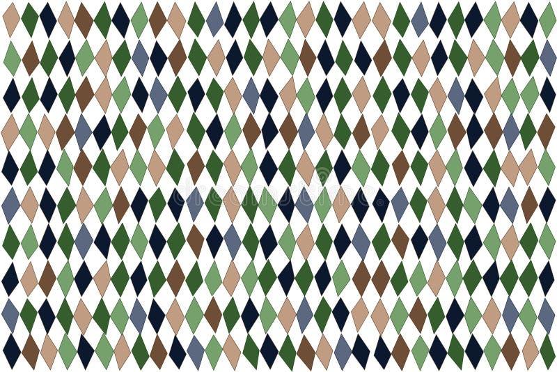Asymmetrisch diamantenpatroon, origineel abstract behang stock illustratie