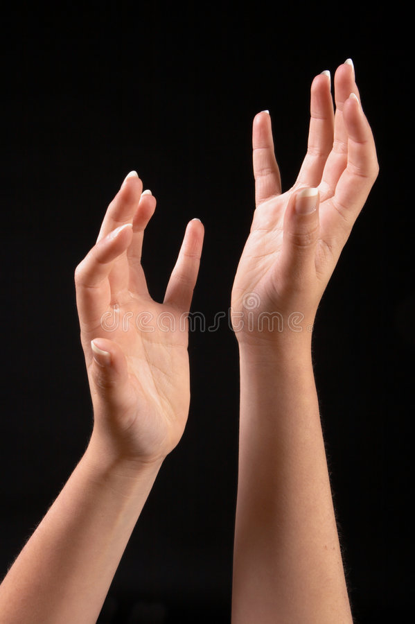 Asymmetrische handen stock foto's