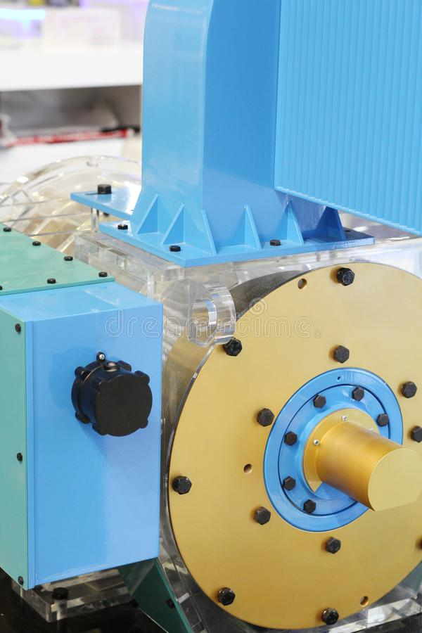 Asynkron AC-motor med frekvenskontrollhastighet arkivfoton