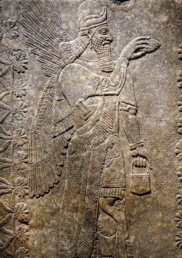 asyryjczyków krasnoludków Oskrzydlony panel obrazy stock