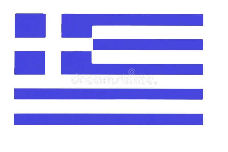Atłasowa tekstura wyginająca się flaga Grecja royalty ilustracja