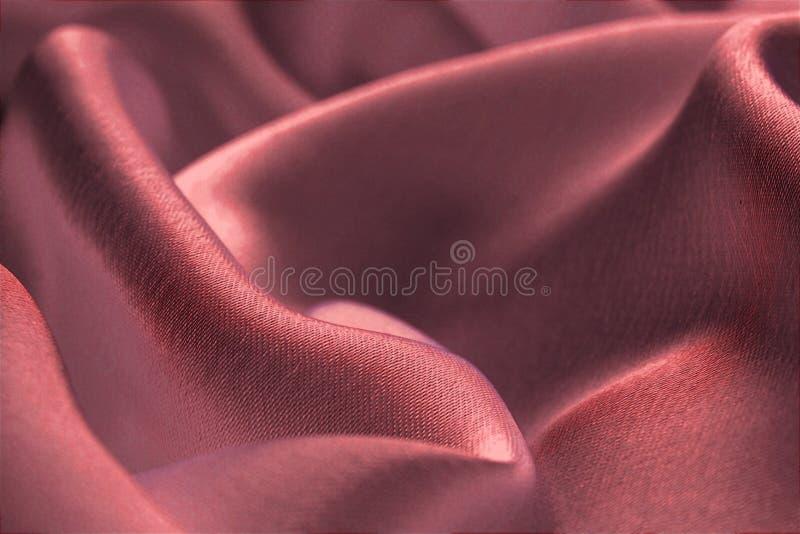 Atłasowa tkanina, błyszczący, soczysty, zginać, falisty, czerwień obraz royalty free