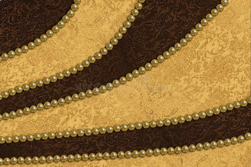 Atłasowa tkanina i perły zdjęcie royalty free