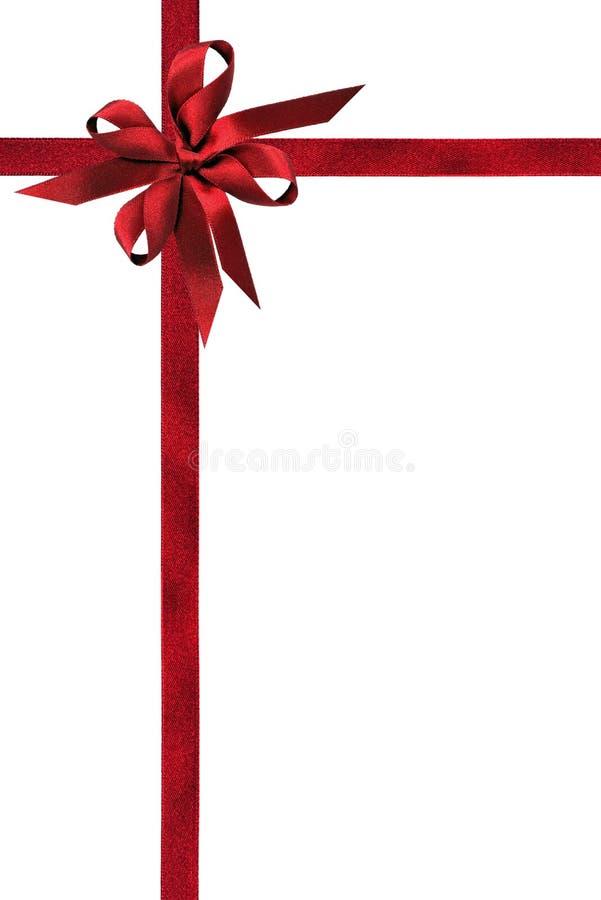 atłasowi polerujący czerwoni faborki zdjęcie stock