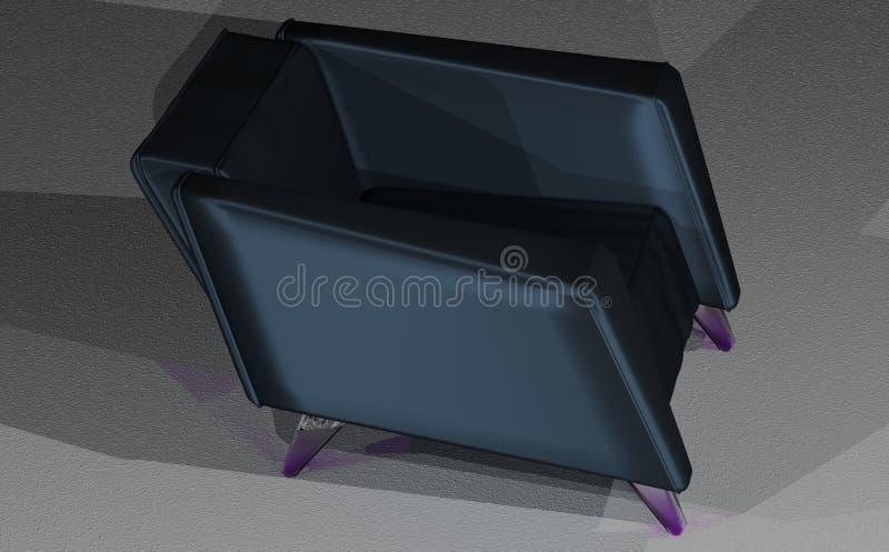 Atłasowy loft krzesło obraz royalty free