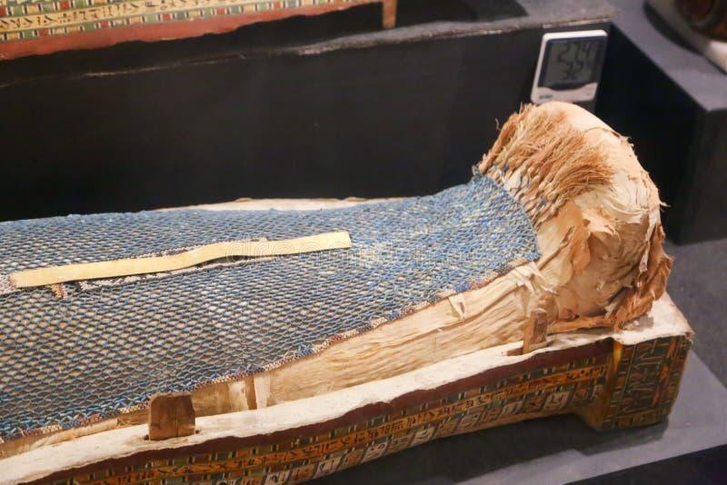 Ataúd antiguo de la reina en el museo de Luxor, Egipto imagen de archivo libre de regalías