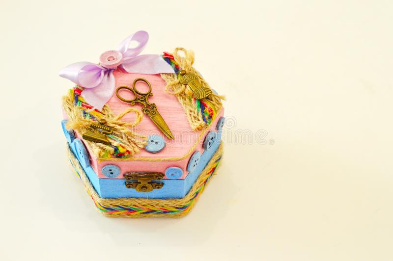 Ataúd hecho a mano para la joyería imagen de archivo libre de regalías