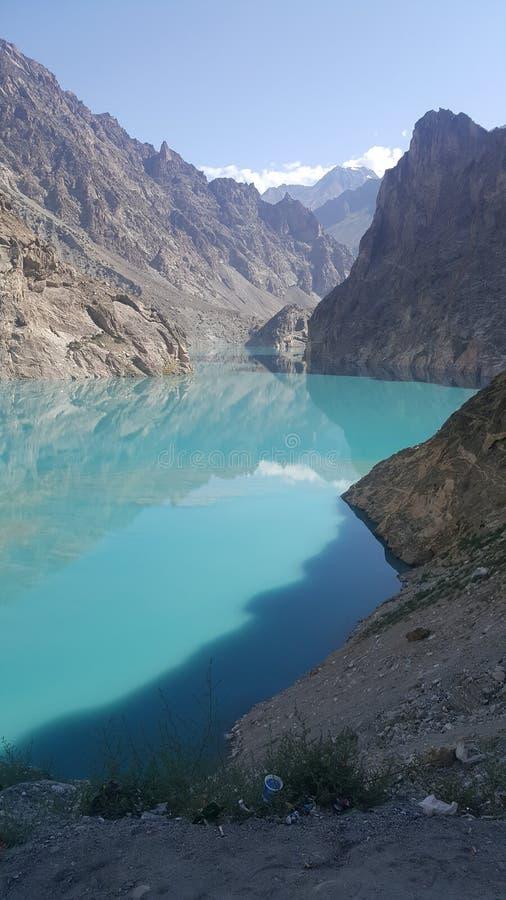 Ataabad Lake stock photo
