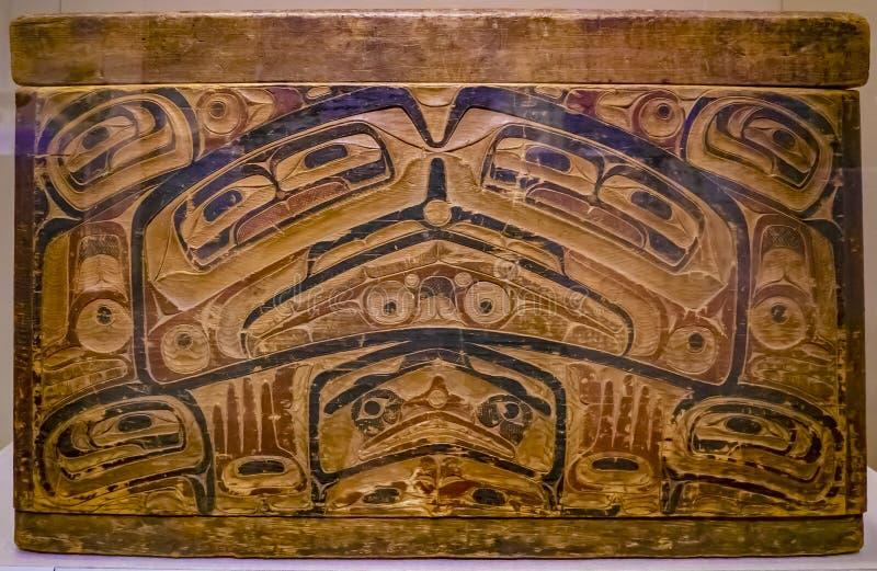 Atabask e Algonquin índios de arte antiga Coleção do Museu Metropolitano, Nova York, Estados Unidos da América fotos de stock