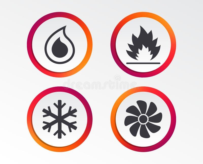ATAC Aquecimento, ventilando e condicionamento de ar ilustração do vetor