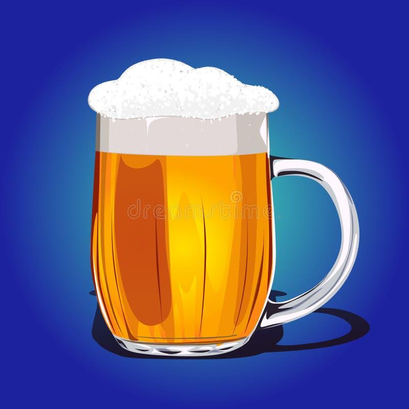 Atac a cerveja fresca ilustração do vetor