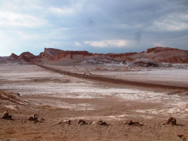 atacama智利della沙漠月神月亮瓦尔谷 库存照片