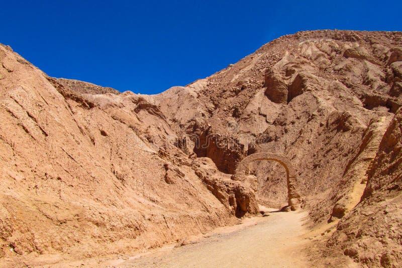 Atacama öken, valle de Quitor royaltyfri fotografi