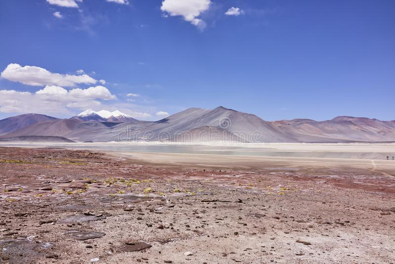 Atacama aride aménage le panorama en parc images stock