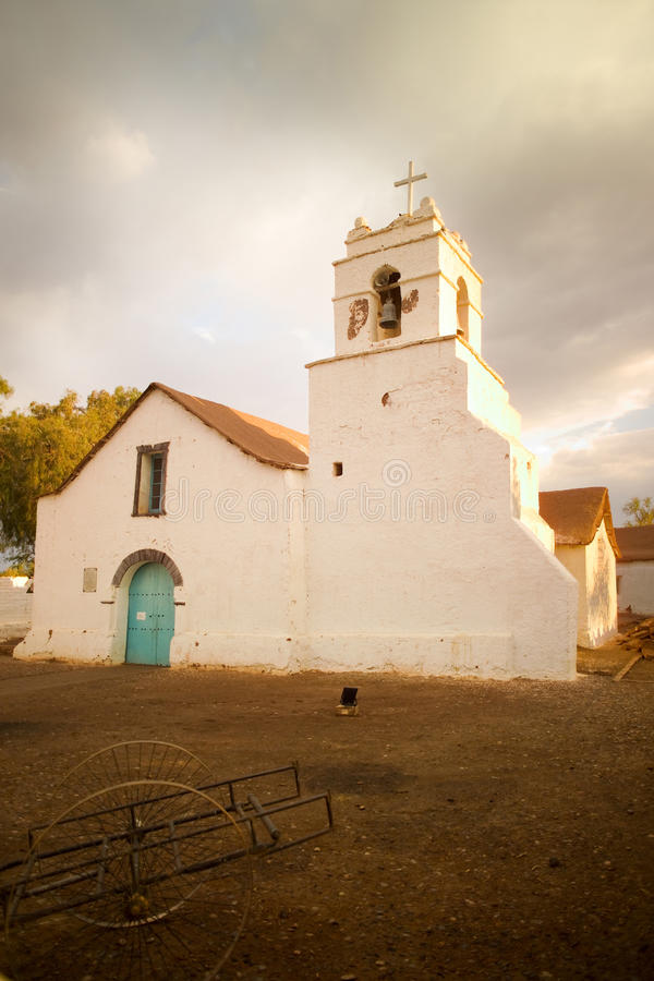 atacama church de pedro ・圣 库存照片
