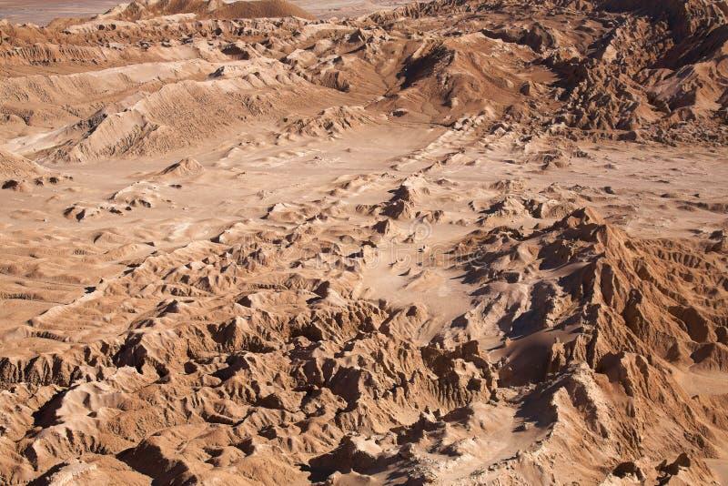atacama de desert la月神月亮瓦尔谷 免版税图库摄影