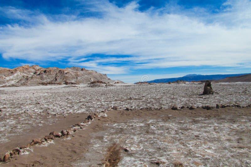 Atacama desert arid flat land stock image