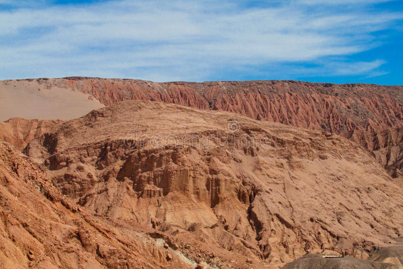 Atacama desert arid valley royalty free stock photo