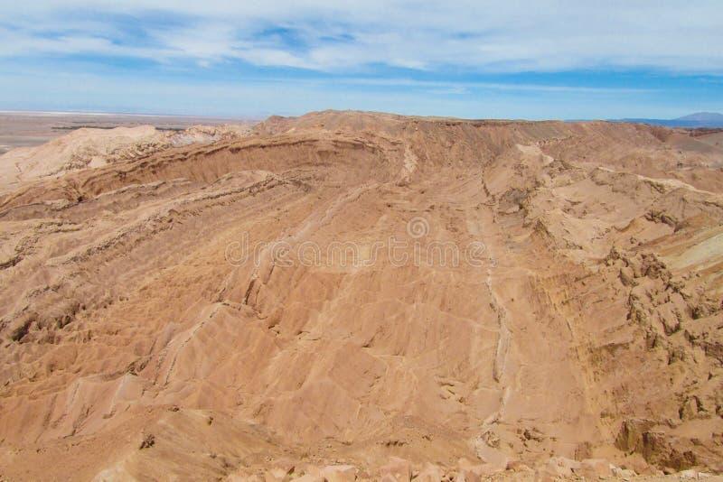 Atacama desert Valle de la Luna stock photo