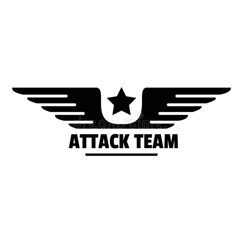 Atack avia drużyny logo, prosty styl royalty ilustracja
