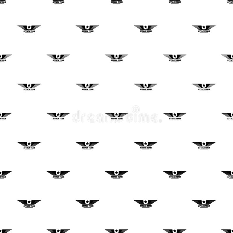 Atack avia team pattern seamless vector stock illustration