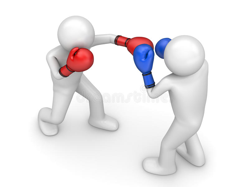 Atack in boxing royalty free stock photography