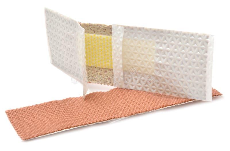 Atadura adesiva médica imagem de stock