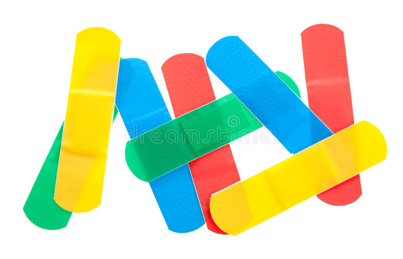 Ataduras coloridas foto de stock