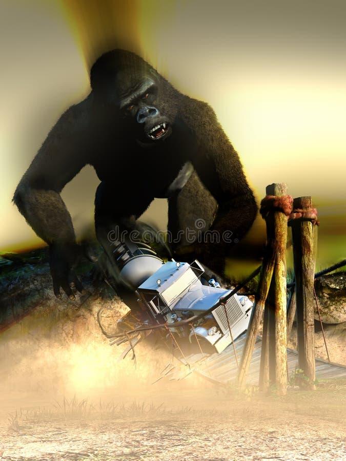 Atak potwór ilustracji