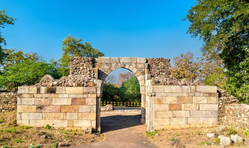 Atakpoort van Pavagadh-Fort - de Staat van Gujarat in India stock foto