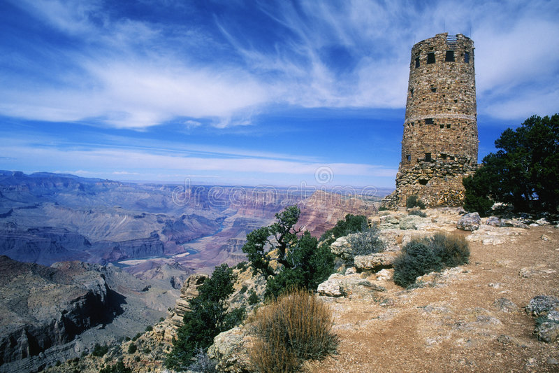Atalaya de la opinión del desierto imagen de archivo