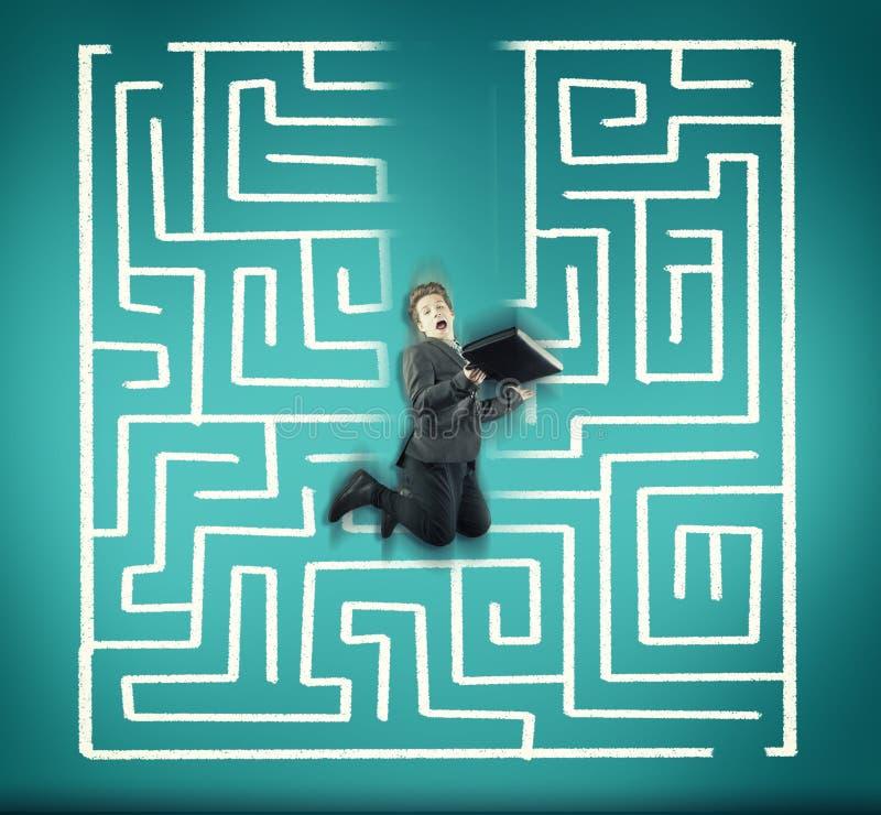 Atalho para o labirinto fotos de stock royalty free