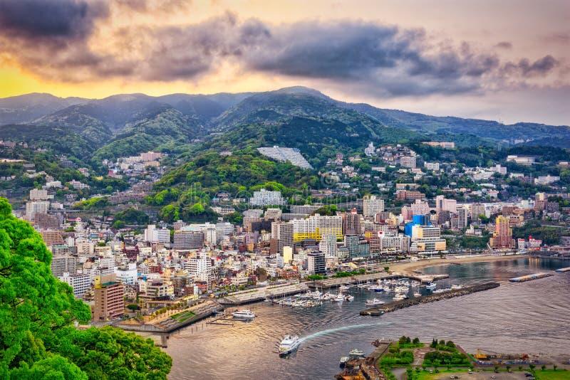 Atami, горизонт Японии стоковая фотография rf